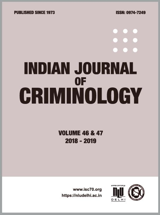 Indian Journal of Criminology(2018-19)
