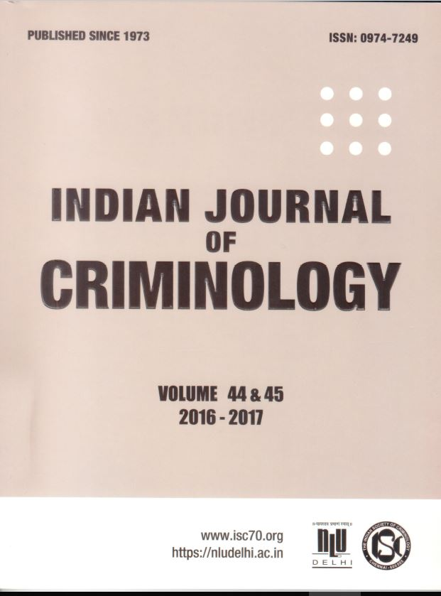 Indian Journal of Criminology(2019)