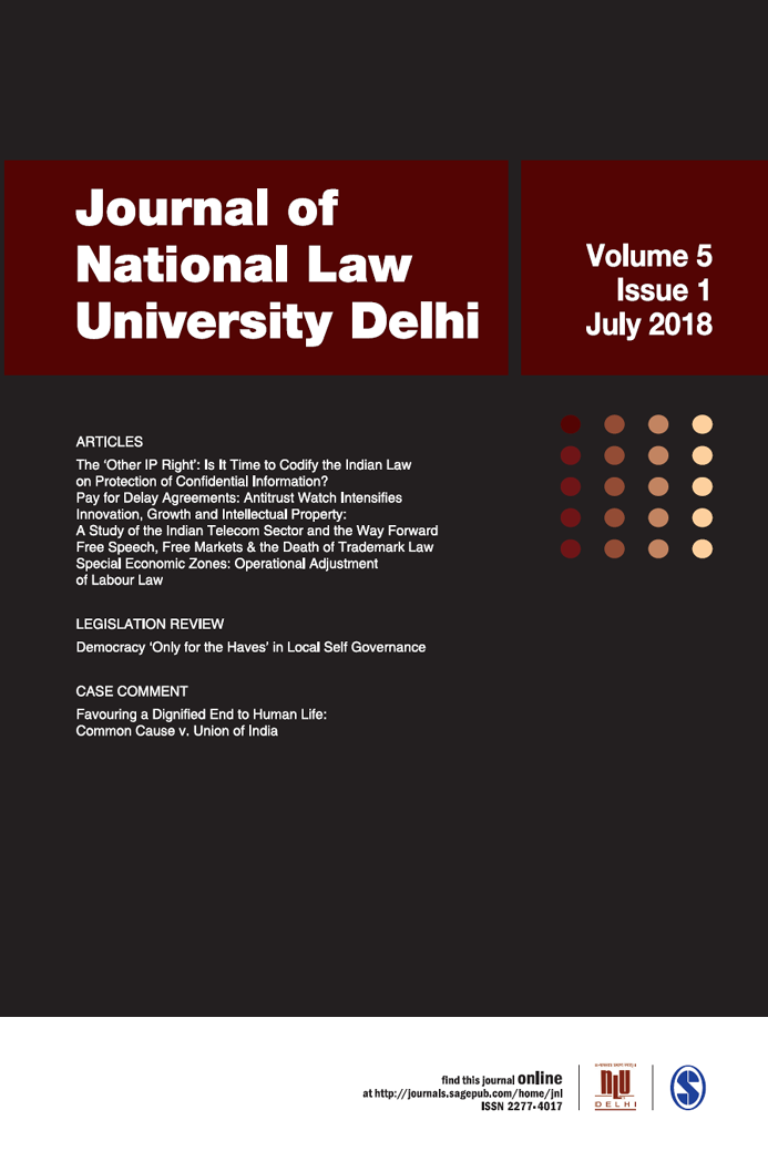 Journal of National Law University Delhi