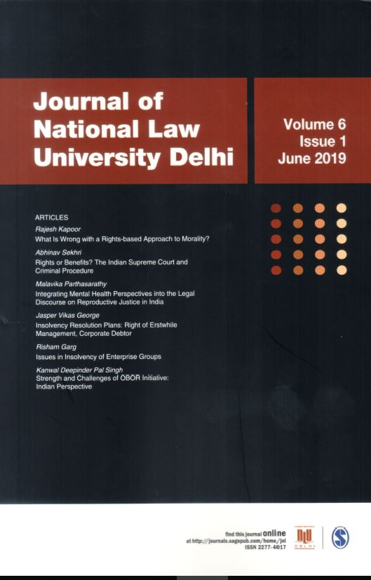 Journal of National Law University Delhi(2019)