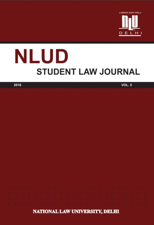NLUD STUDENT LAW JOURNA